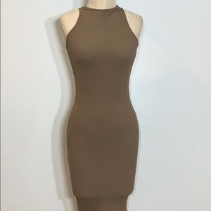 Taupe Ribbed Dress